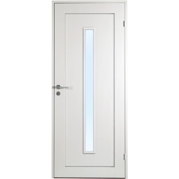 Öland - 1-spegel - Långt glas - Massiv - Innerdörr